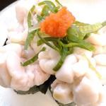 回転寿司喜楽 - 鱈白子 ¥290
