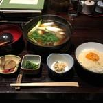 秋田きりたんぽ屋 - きりたんぽ鍋定食 1500円