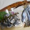 根津松本 - 料理写真:焼き穴子、コハダ刺身、アジ開き