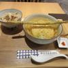 博多やりうどん別邸 - 料理写真:暫く待つと注文した博多やりうどん800円とかしわ飯360円の出来上がりです。