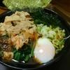名代 富士そば - 料理写真:ほうれん草そばに肉と温玉をトッピング。