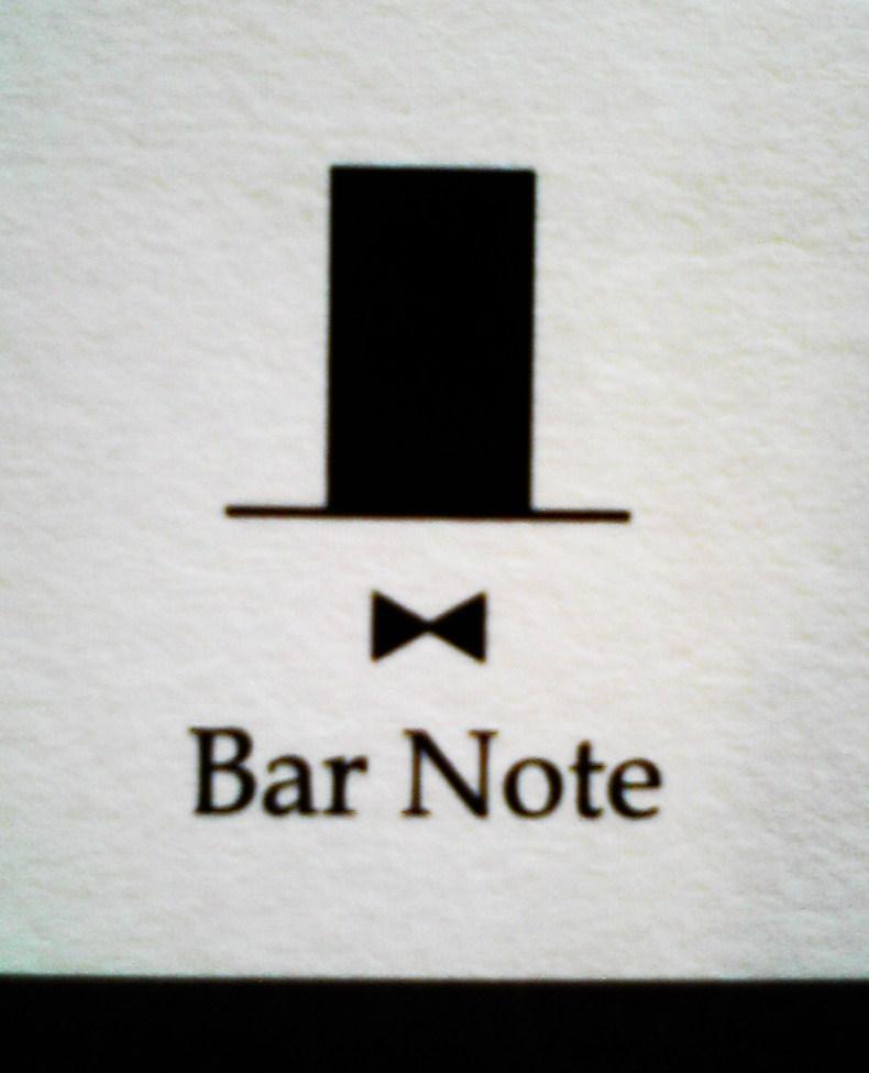 バー ノート