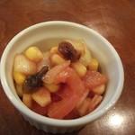 カレーの店 マボロシ - 福神漬代わりにと出された小鉢