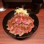 the 肉丼の店 - やわらかランプステーキ丼 @900円