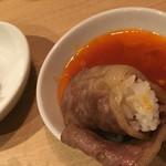 和牛焼肉じろうや 介 wagyu&sake - 溶き卵につけていただきます