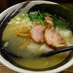 麺場 浜虎 - 塩鶏ワンタンスープ10ヶに麺プラス
