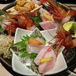 鮮魚と郷土料理の店 たつと - 超豪華なのだ*+.\( °ω° )/.:+*