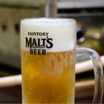 かき小屋フィーバー@BLUE JAWS 名古屋烏森店 - 生ビール