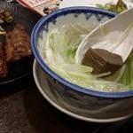 牛たん炭焼き 利久 - テールスープにも牛タン角切りがゴロリ~