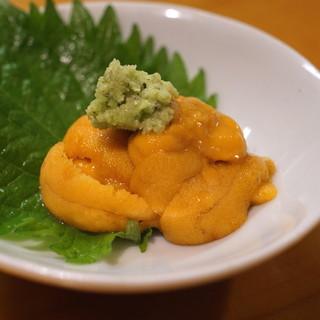 蕎楽亭 - 料理写真:ひとくち雲丹