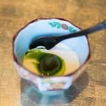白金台こばやし - はちみつプリンが更にバージョンアップ!抹茶ソースと餡子とのコラボがまた素晴らしかった(*^^*)