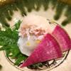 みつ林 - 料理写真:河豚の焼き霜造りをメインにした先付け