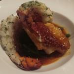 クラウド ナイン - 鮮魚とオマール海老に甲殻類ソースをかけた料理