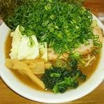 ゆき坊 - 魚介豚骨ラーメン+ねぎ