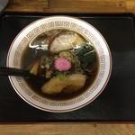恵庭 おとん食堂 - 萬字ラーメン650円です。半麺50円引きです。