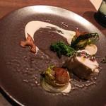 アジル - フグのアロゼ 豆腐のクーリーと蓮根バリグール仕立て