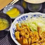 もりもり食堂 - 料理写真:せせり生姜焼きセット