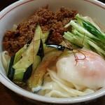 麺 銀三 - 温玉肉味噌きしめん(温)大盛