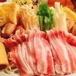 魚河岸 番屋 - 豚バラのちゃんこ鍋(^^)