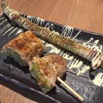 楽空 - アスパラ肉巻き&レタス肉巻き