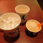 ブルーシールアイスクリーム - マシュマロ紅イモミルク+バニラ+コーヒー