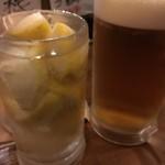 60518203 - 生レモンサワー、メガジョッキビール