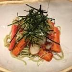60539889 - タコの薫製と京人参の蕎麦サラダ