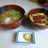 とばた麺之介 - 料理写真:「カツミニ丼セット」680円(2016.9)