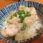 つけ麺 舞 - 鶏めし☆。.:*・゜ 店主さんのオススメの食べ方は〆のリゾットだそうです。