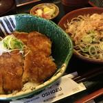 お清水 - 料理写真:ソースかつ丼+おろしそばの満腹セット