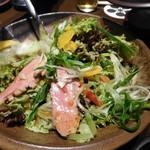 戦国武勇伝 - 【サラダ】【大自然の恵み】 合鴨と九条葱の柚子サラダ