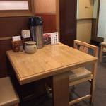 鳥つね - こんな感じのテーブル席