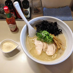 らーめん れんげ - 鶏白湯らーめん680円+粉チーズ50円+岩のり(クーポン)