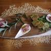 コンヴィヴィアリテ・イチノセ - 料理写真:春菊のケークサレと鴨とキャロットラペ