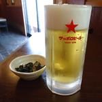 瀧乃家 - ビールと味噌田楽の相性はかなり良い