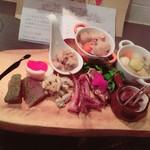 京橋 煮込みビストロ banco - 店員さんおすすめ。煮込み前菜盛り合わせ