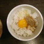 麺屋 明星 - 2016年12月 ラーメン屋さんの玉子かけごはん 200円