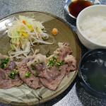 焼肉割烹 松阪 - 焼しゃぶ