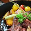 牛ハラミステーキ ~濃厚な赤ワインソースとジャガイモのピューレ~