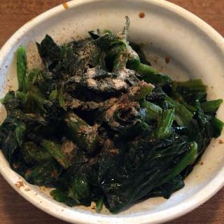 麺通 - 料理写真:おつまみほうれん草 100円