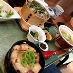 あら浜 - ほっき飯とかき飯のセット