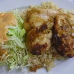 レストランばーく - バターライス鶏の唐揚げ 税込700円