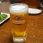さかな市場  - 生ビール。