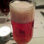 ナポリ、アマルフィ料理 Ti picchio - 文字の浮かぶエビスビール
