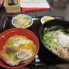 麺処 かわべ - 料理写真:この日は金曜日だったんで「日替わりそば」はカツ丼のセットで750円でした。  軽い夕食のつもりがガッツリになってしまいました。