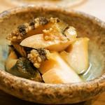 松寿司 - 蒸しあわび