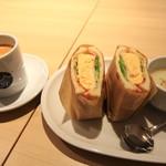 サーティーナインカフェ - フワフワのたまごサンドのモーニングセット