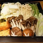 別邸 竹の庵 - すき焼きの野菜
