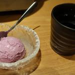 別邸 竹の庵 - 紫芋アイス