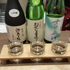 金沢地酒蔵 - ドリンク写真:能登のお酒、三種です
